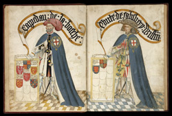 Sir John de Grailly and William, Earl of Salisbury, in the Garter Book